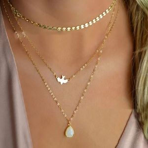 🎉 3 Layer Gold Plated Dove Choker Necklace